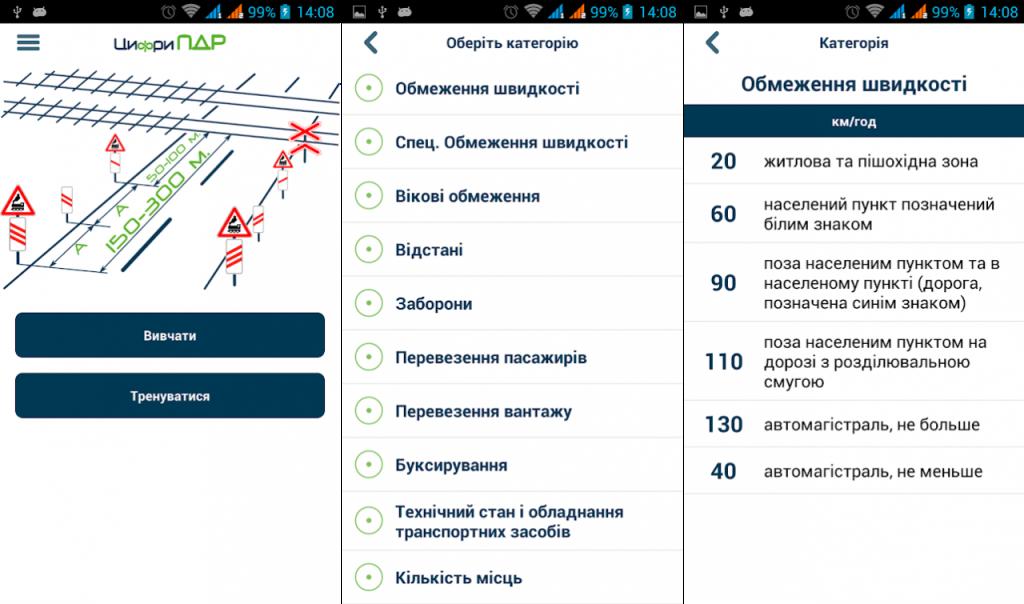 """Мобильное приложение """"Цифры ПДД"""""""