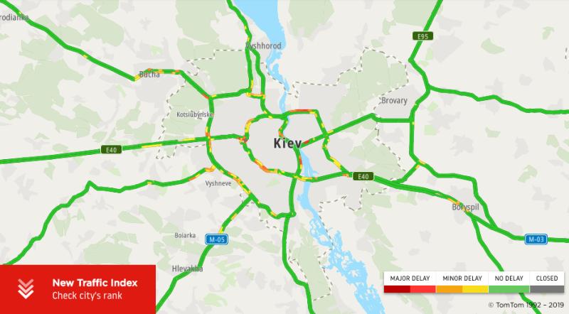Карта дорог Киева