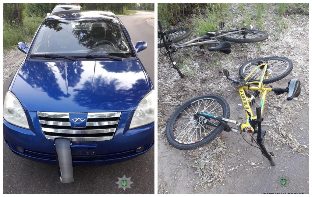 Пьяный водитель наехал на велосипедиста, к счастью, он не пострадал