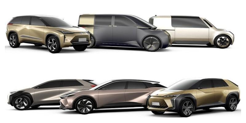 Toyota представила линейку электрокаров