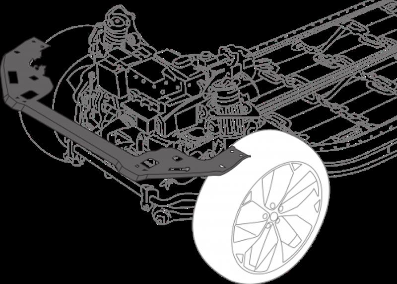 Из инновационного материала изготовили раму радиатора электромобиля I-Pace