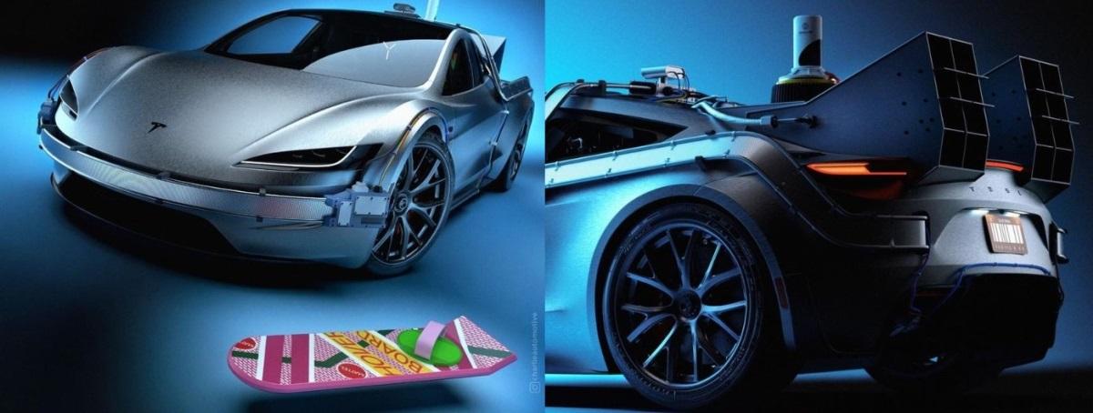 """Tesla Roadster """"Назад в будущее"""""""