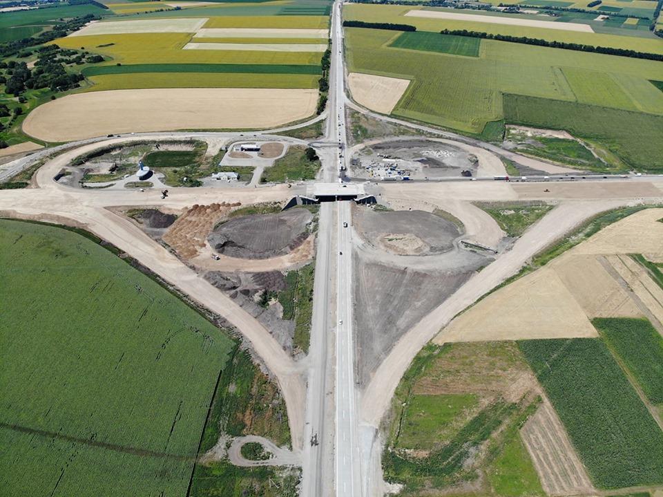 В Кобелякском районе Полтавской области открыли 12 километров новопостроенной бетонной дороги на трассе Н-31 Днепр-Решетиловка