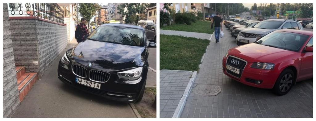 Автомобилисты продолжают парковаться на тротуарах