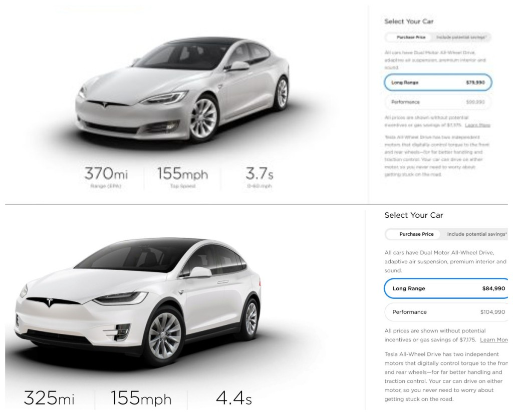 Tesla изменила стоимость электрокаров