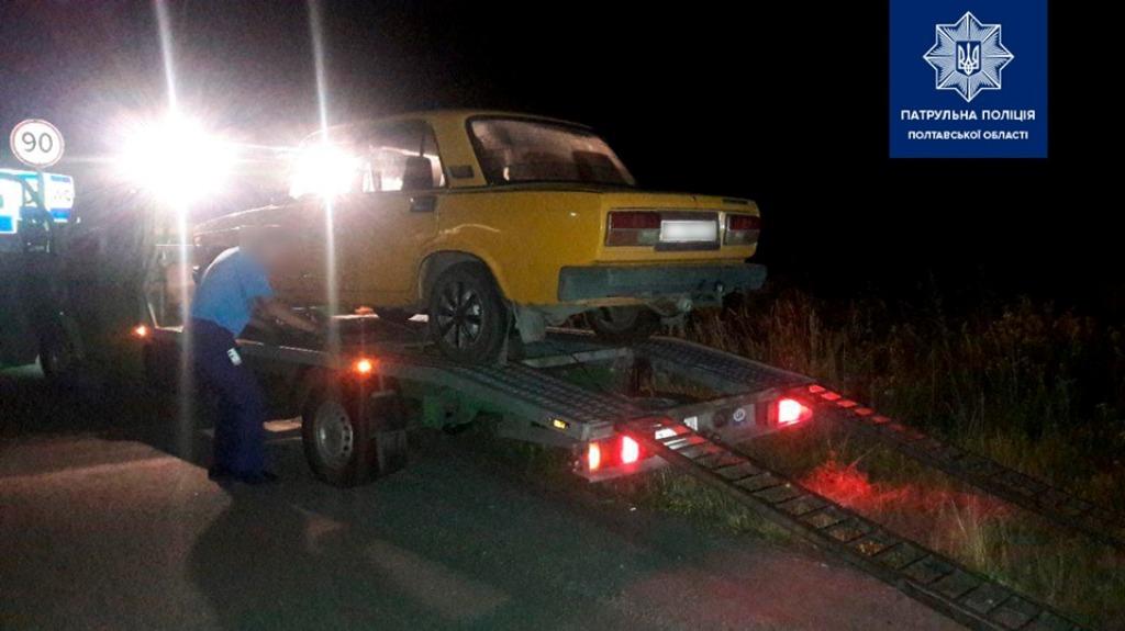 Автомобиль пьяного водителя эвакуировали на штрафплощадку