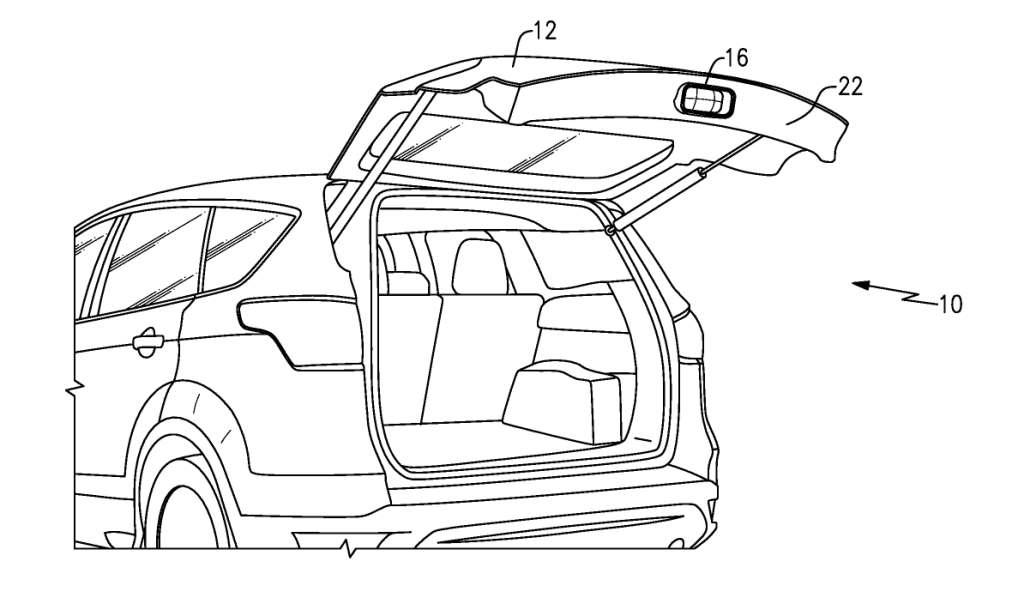 Проектор будет монтироваться в нижнюю часть задней двери внедорожника