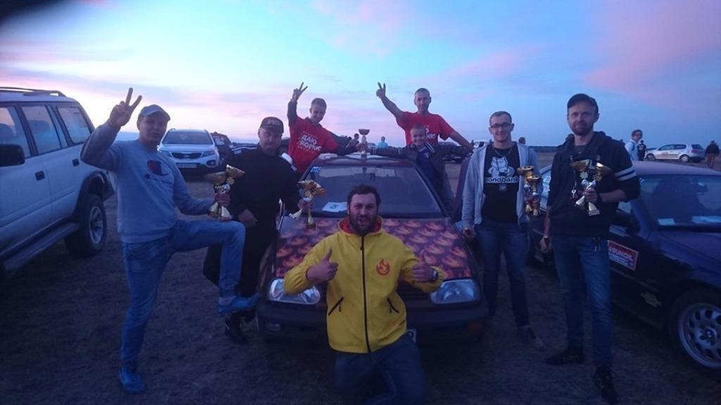 Команда профсоюза на 1 этапе Трофея по ралли