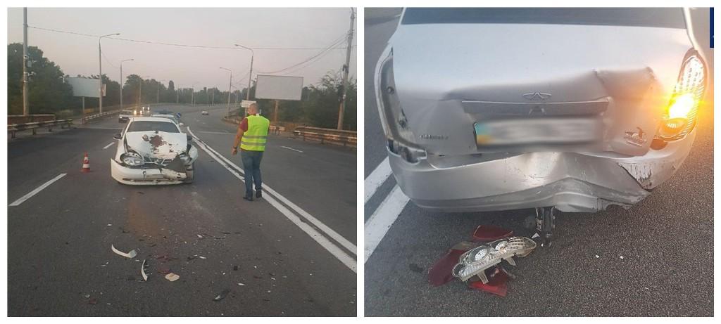 Пьяный водитель допустил столкновение с автомобилем