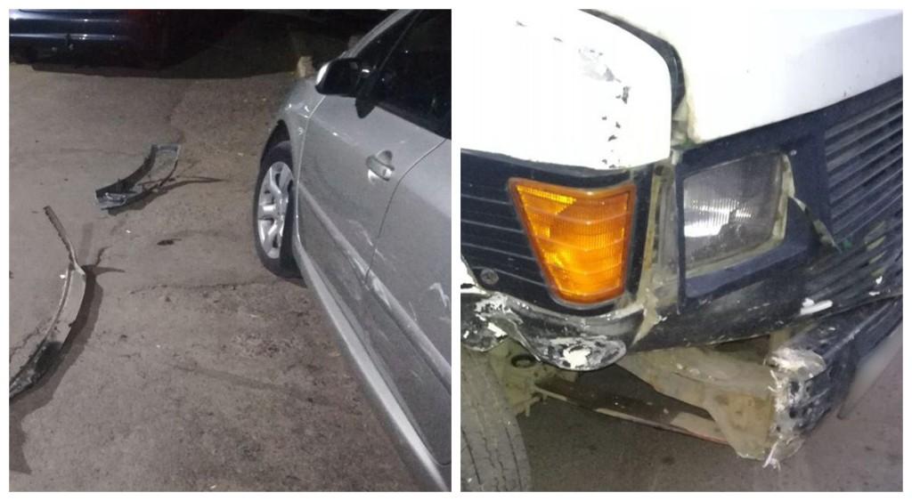 Пьяный водитель столкнулся с тремя автомобилями