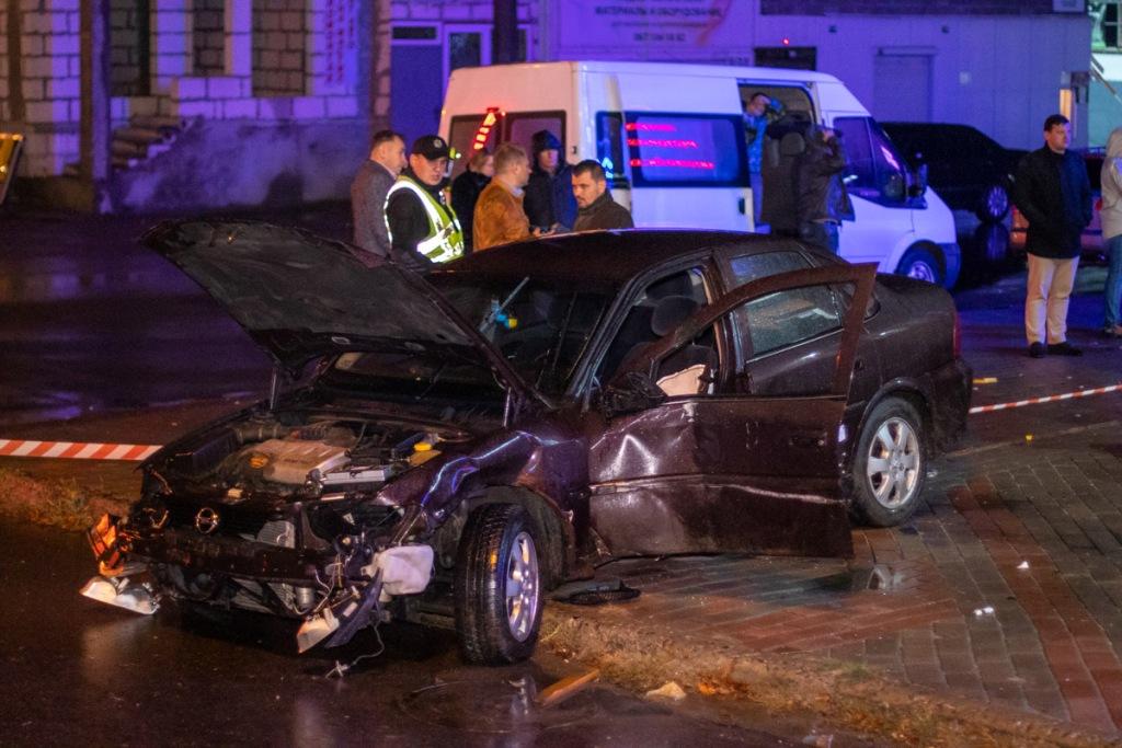 За рулем авто был сотрудник полиции охраны