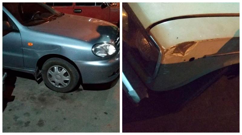 Пьяный водитель наехал на припаркованное авто
