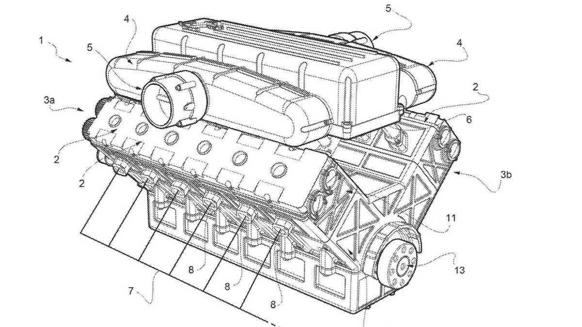 Схема двигателя из патентных документов