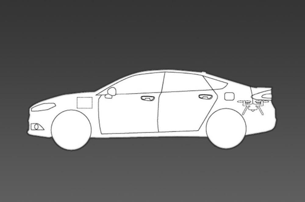 Ford хочет комплектовать автомобили беспилотниками
