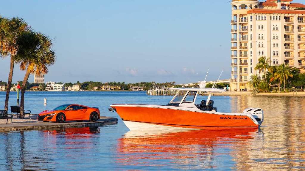 Рыбацкой судно SJ32 от Honda