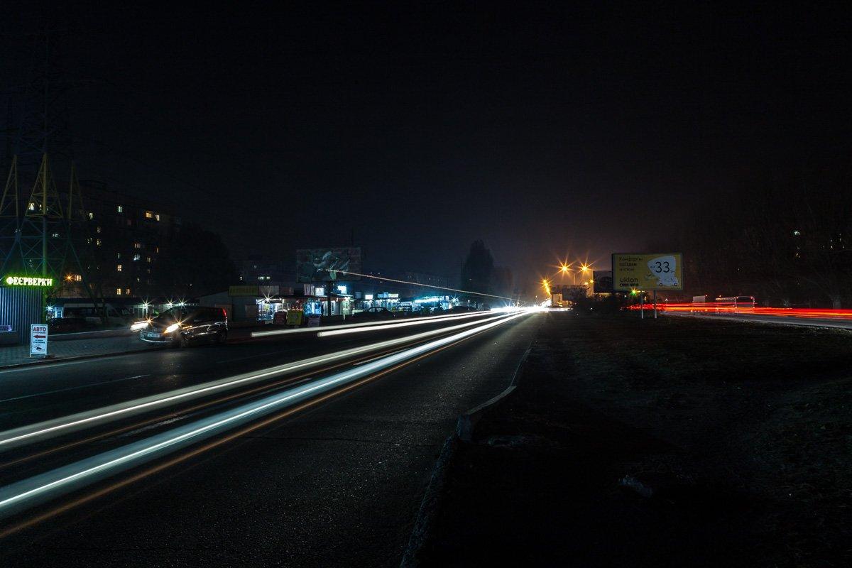 Донецкое шоссе, район дома №123. Отсутствует наружное освещение