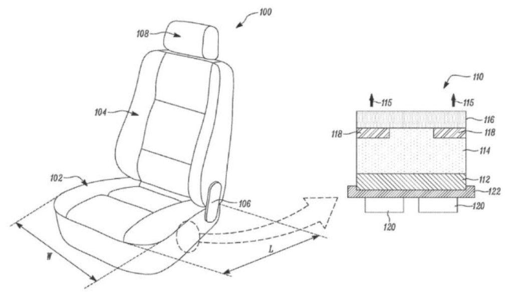 Tesla подала заявку на патент на новые сиденья