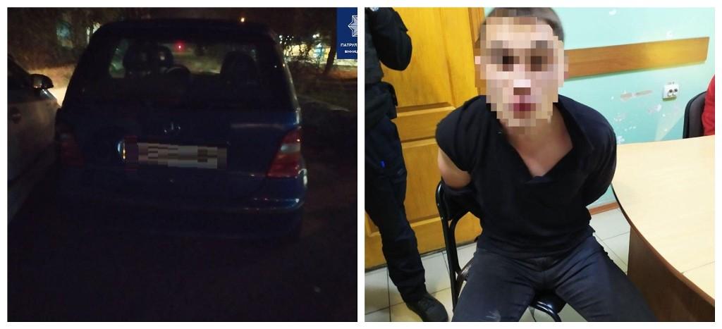 Пьяного водителя доставили в отделение полиции