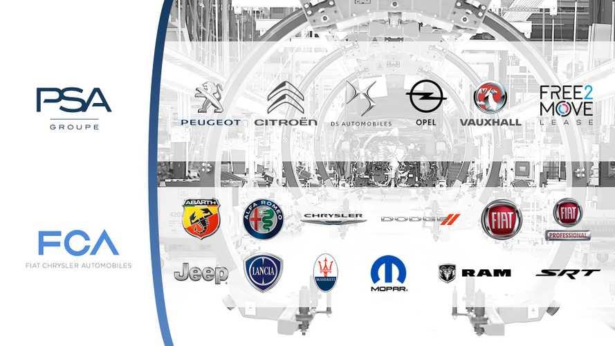 Карта брендов PSA и FCA