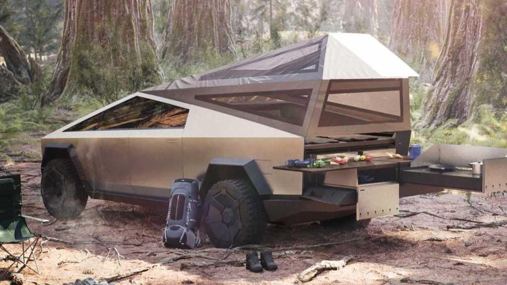Cybertruck - отличное решение для любителей отдыха с палатками