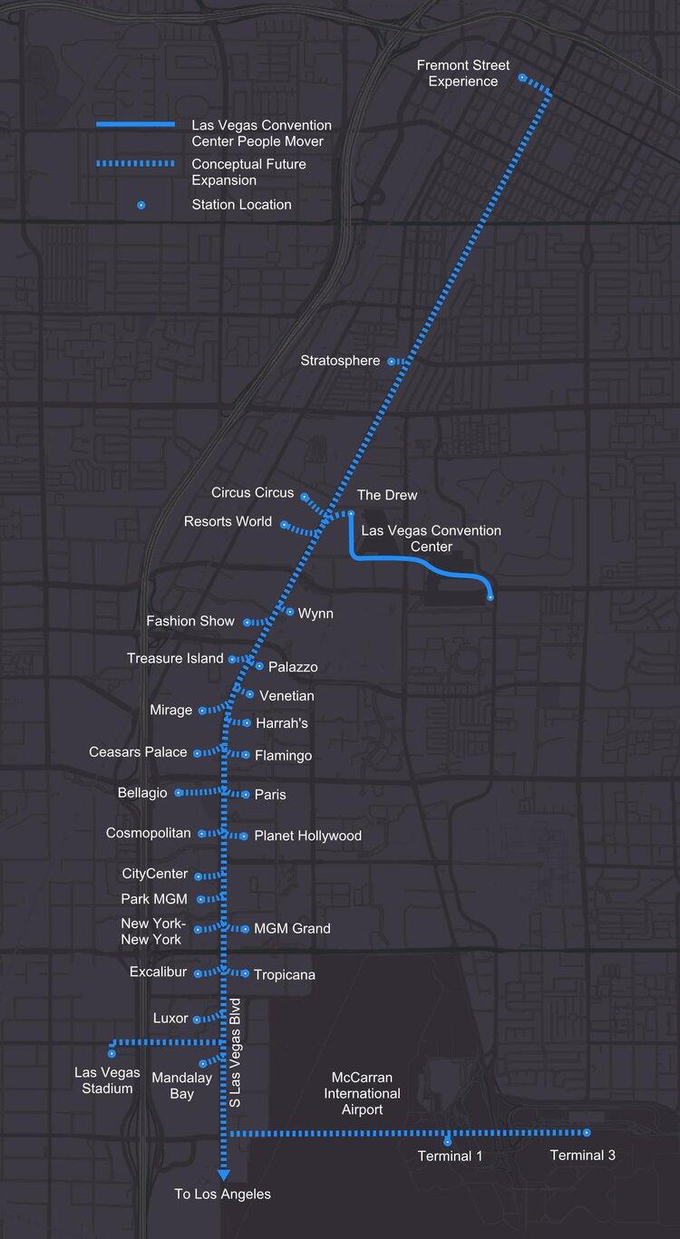 Тоннель соединит между собой несколько корпусов конференц-центра Лас-Вегас