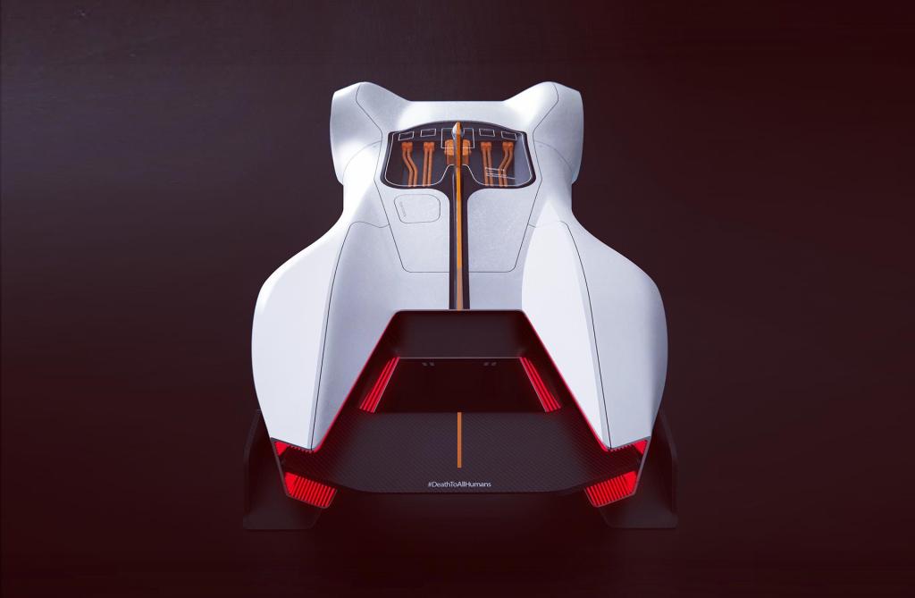 Модель создана для участия в чемпионате Roborace