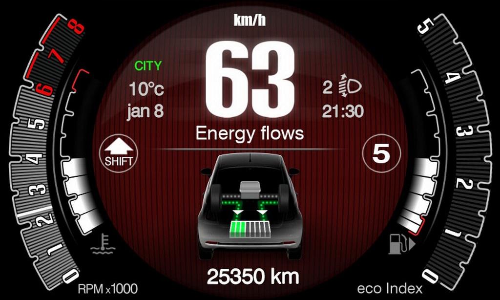 Система способна накапливать энергию во время торможения, а затем использовать ее для перезапуска двигателя и ускорения