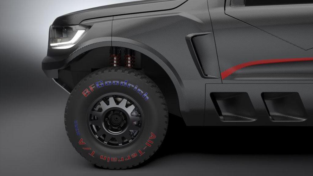 Пикап получил реформировали подвеску и шестипоршневые тормозные суппорты Brembo