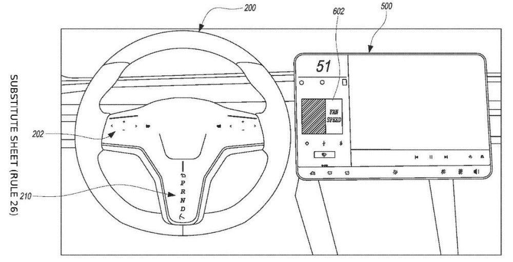 Tesla намерена отказаться от рычага переключения передач и заменить его сенсорными кнопками на руле