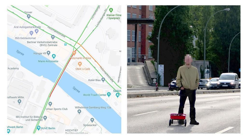 Алгоритмы системы восприняли скопление такого количества смартфонов, как пробку, скорость движения транспорта в которой не превышает 4 км/ч