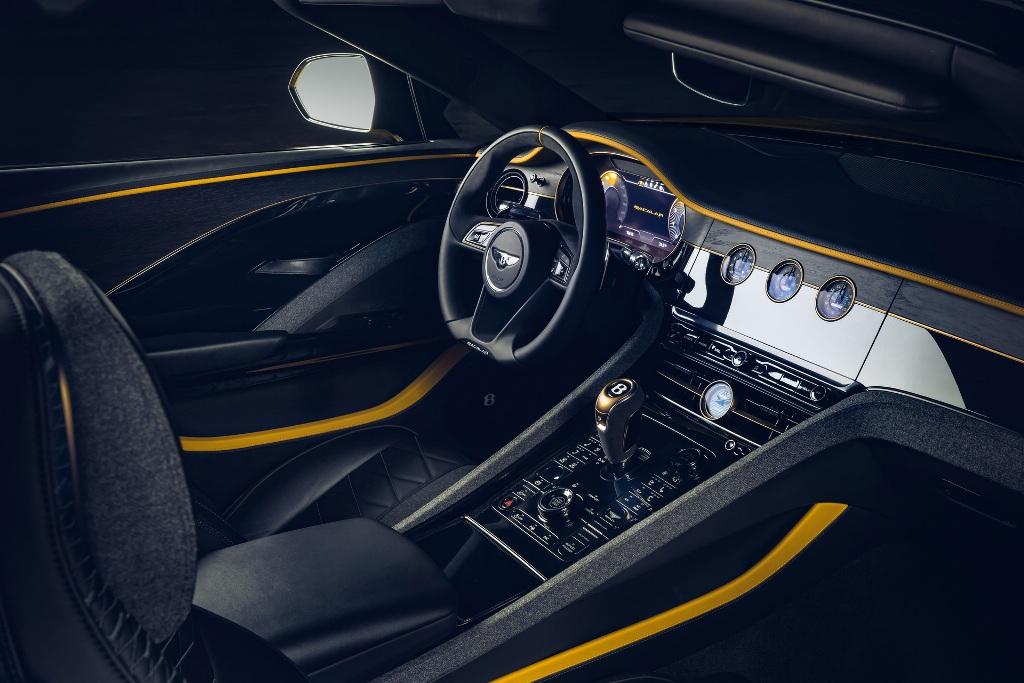 В движение Bacalar приводит 6,0-литровый бензиновый двигатель W12 мощностью 650 л.с. и 900 Нм крутящего момента