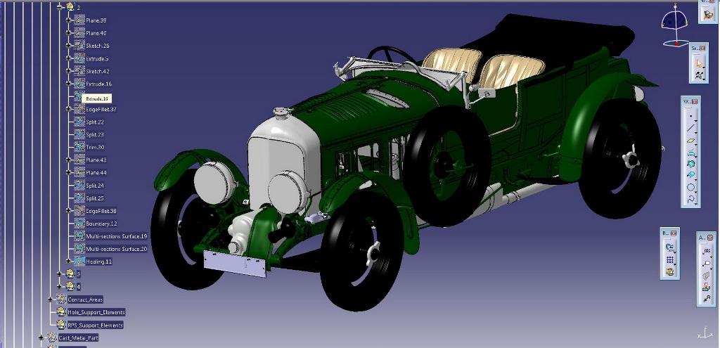 Оцифровка культового спорткара Birkin Blower 1929 года выпуска