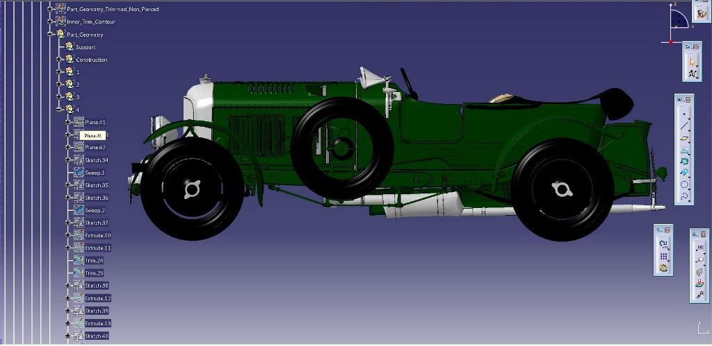 Полученная модель CAD включает 630 компонентов и 70 узлов