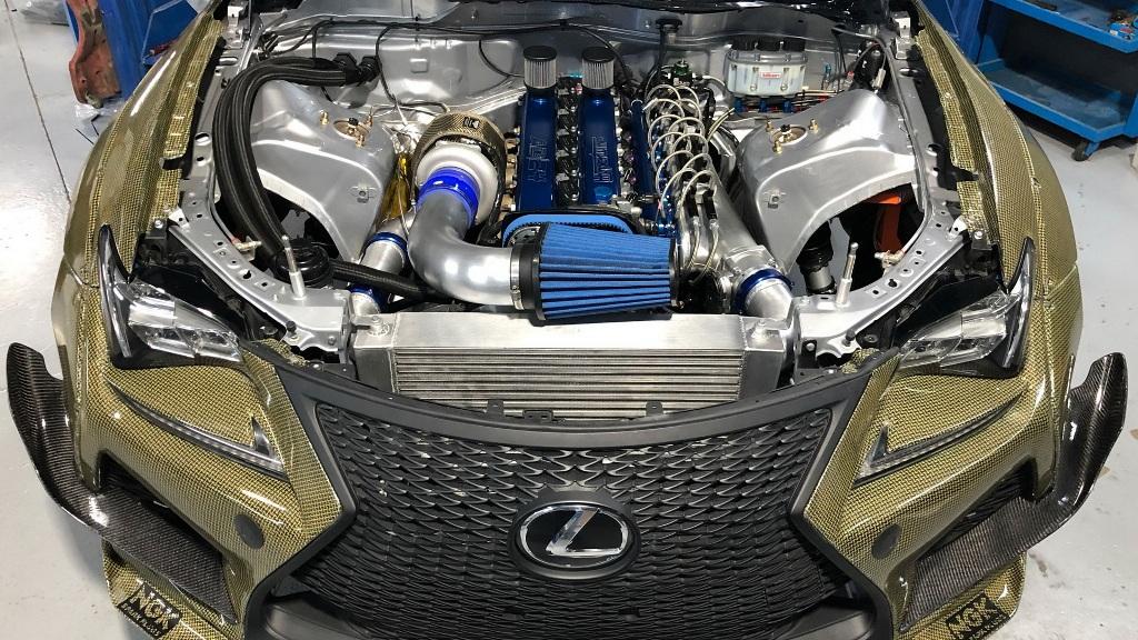 В Lexus RC F установили двигатель от Toyota 2JZ мощностью 1200 л.с. и 1464 Нм крутящего момента