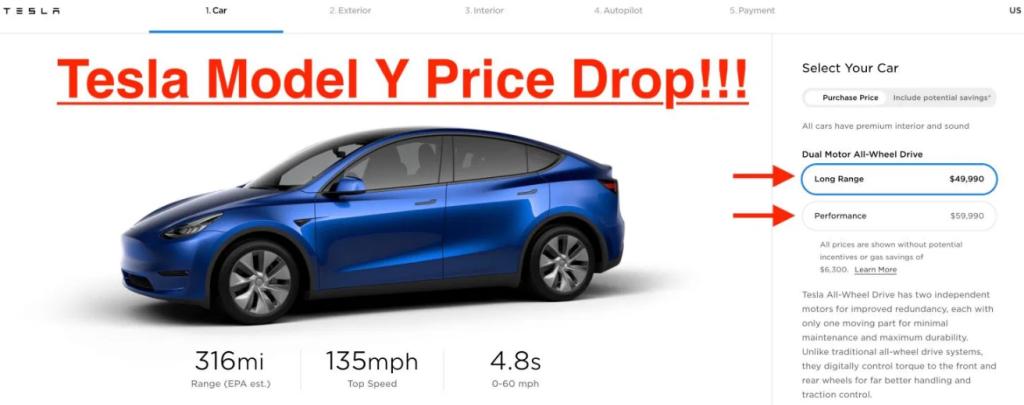 Цена на Model Y