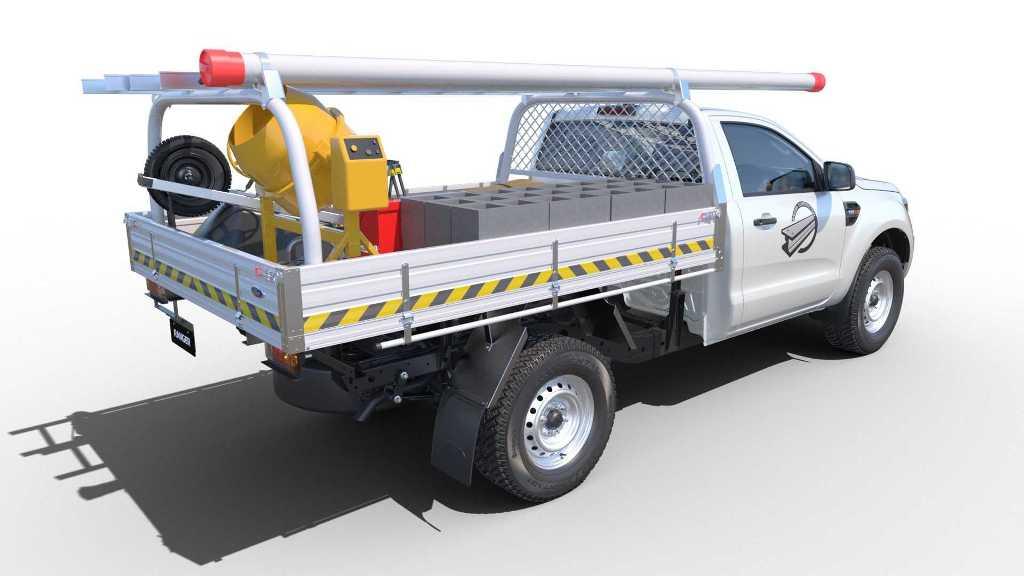 Данная версия Ford Ranger состоит только из кабины и шасси, на основе которой можно построить любой автомобиль специального назначения