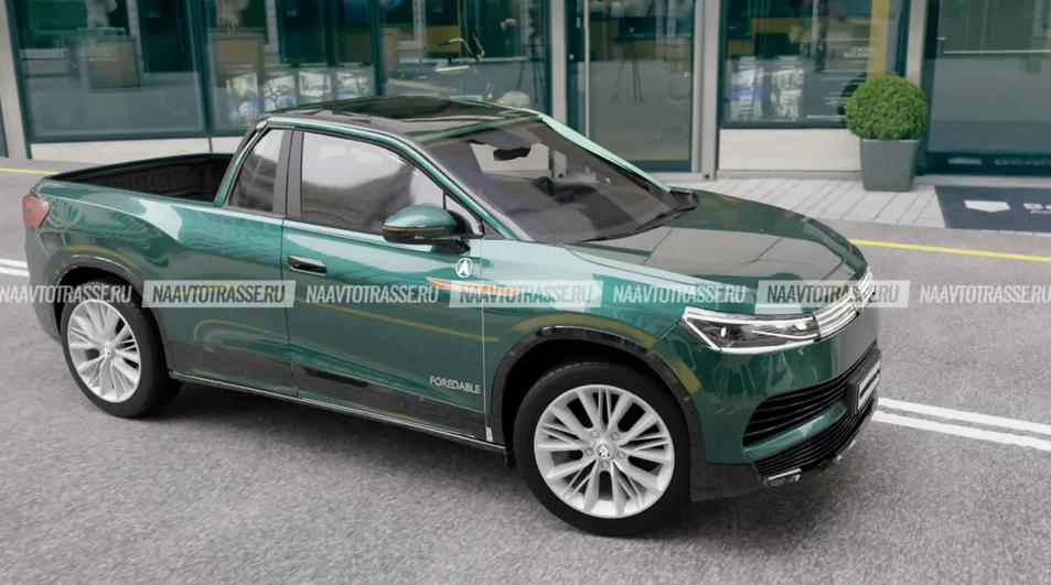 Автомобиль получился компактным и по габаритам перекликается с Hyundai Santa Cruz