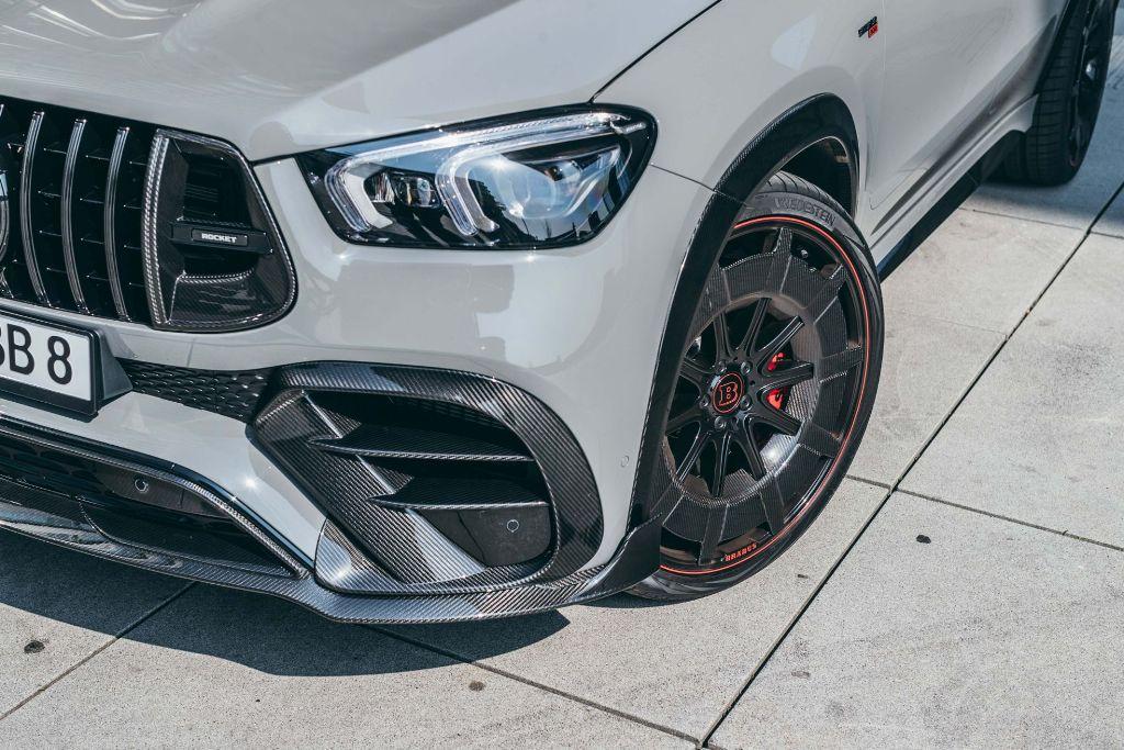 Специалисты оснастить автомобиль 23-дюймовыми колесными дисками Brabus Monoblock Y в цвете Platinum Edition